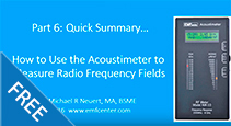 Quick-Summary--How-to-Use-the-Acoustimeter-to-Measure-Radio-Frequency-Fields
